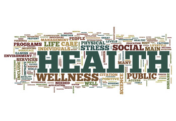 "Word Cloud ""Health"""