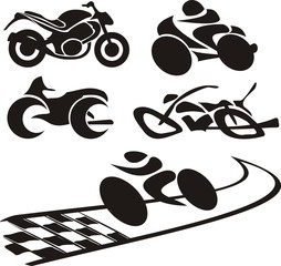 motorcycle logo - silhouette
