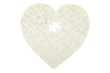 heart made from  puzzle