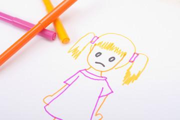 Bild von traurigem Mädchen