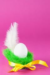 Ei und Feder
