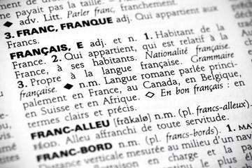 Français in the dictionary