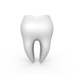 An isolated 3d tooth - a 3d image
