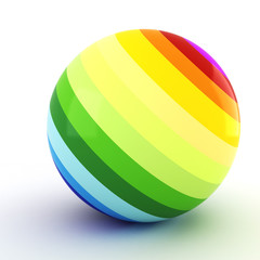 3d colorful ball, on white background