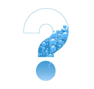Bubbles and Water Isolated Alphabet Question Mark bis ?