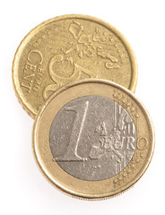 euro coin isolated