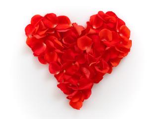 Herz aus Rosenblättern