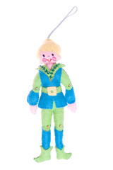 Cute Christmas Ornament Boy Elf Isolated