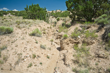 Desert Wash Arroyo Showing Erosion New Mexico