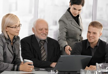 Businesspeople at meeting in office