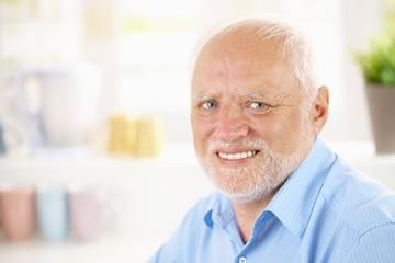 Portrait of cheerful pensioner
