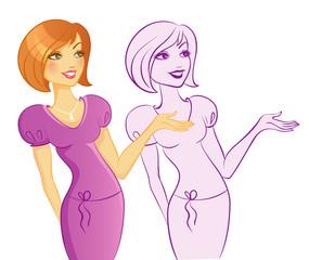 Vector illustration of Women presentation