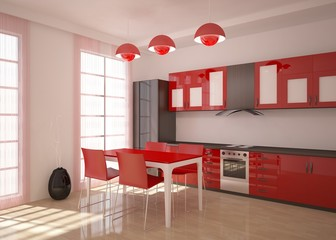 modern kitchen room render