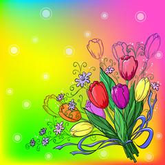 Flower, tulips, background