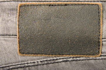 Jeans leather label