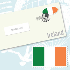 Ireland country flag stamp