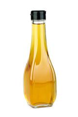 Glass bottle with apple vinegar