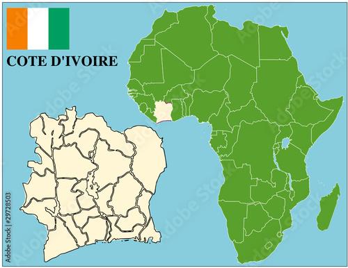 Cote dIvoire emblem map africa world business success Stock image
