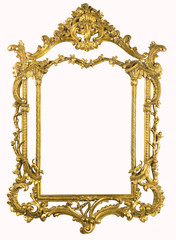 XXXL Antique gold frame with clipping path