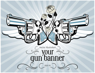 vintage gun label