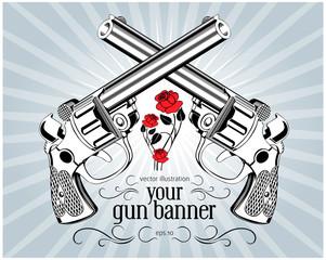 retro gun label