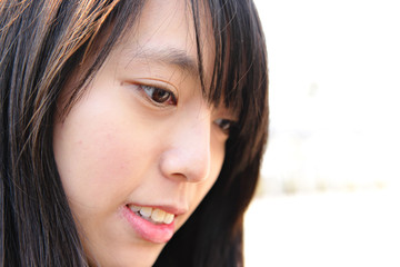 face of young asian woman