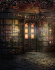 Fototapeta Sklep na wiktoriańskiej ulicy obraz
