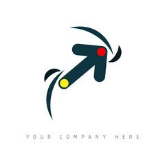 logo picto web flèche marketing pub commerce design icône