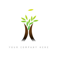 Wall Mural - logo picto web arbre nature marketing commerce design icône