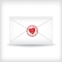 Stamp sealed love letter