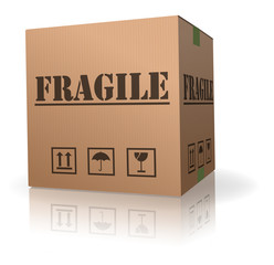 fragile content cardboard box handle with care