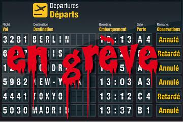grève aéroport