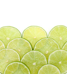 slices of lime and empty space for your text