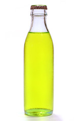 Bottle of yellow lemonade