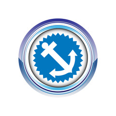 ancre marine bateau mer logo picto web icône design symbole