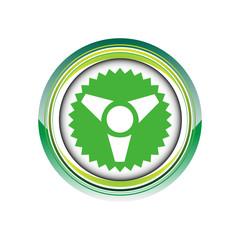 radioactif atome énergie logo picto web icône design symbole