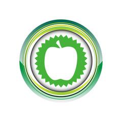 pomme fruit frais vitamine logo picto web icône design symbole