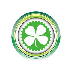 trèfle feuilel chance logo picto web icône design symbole