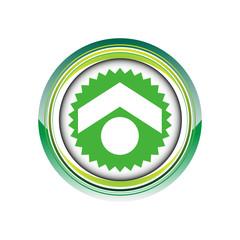 maison immobilier flèche logo picto web icône design symbole