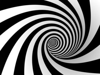 Foto op Canvas Spiraal gestreite spirale