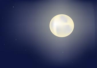 Moon in nightly sky