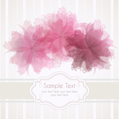 Romantic template frame design for greeting card