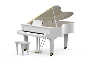 White grand piano