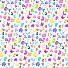 Bubble abc seamless pattern