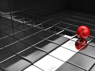 Papiers peints Rouge, noir, blanc abstract