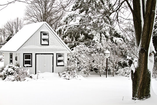 Garden House After Storm