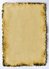 Altes Papier mit Goldrahmen