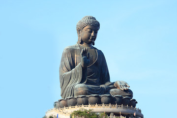 Giant Buddha Statue in Tian Tan. Hong Kong, China