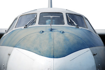 Aircraft, closeup. isolated on white