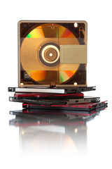 Audio mini discs for music #1. Stack | Isolated